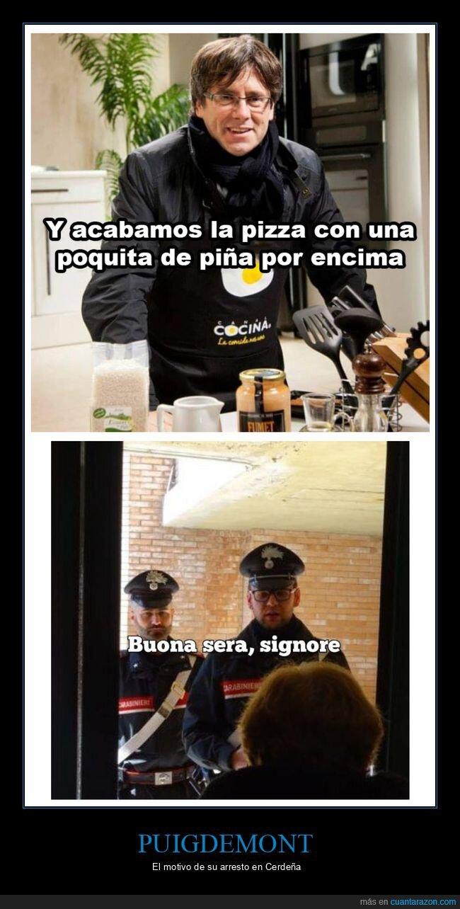 arresto,cerdeña,piña,pizza,políticos,puigdemont