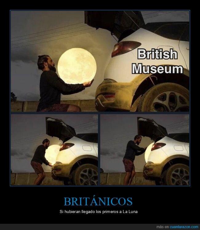 británicos,luna,museo