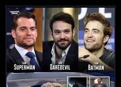 Enlace a Tres superhéroes, un actor