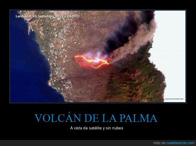 la palma,nubes,satélite,volcán
