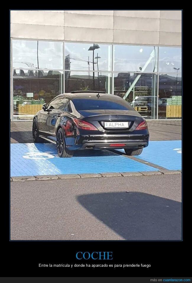 coche,matrícula,plaza de discapacitados