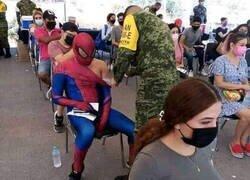 Enlace a Gohan muy pendiente de la vacunación de Spiderman