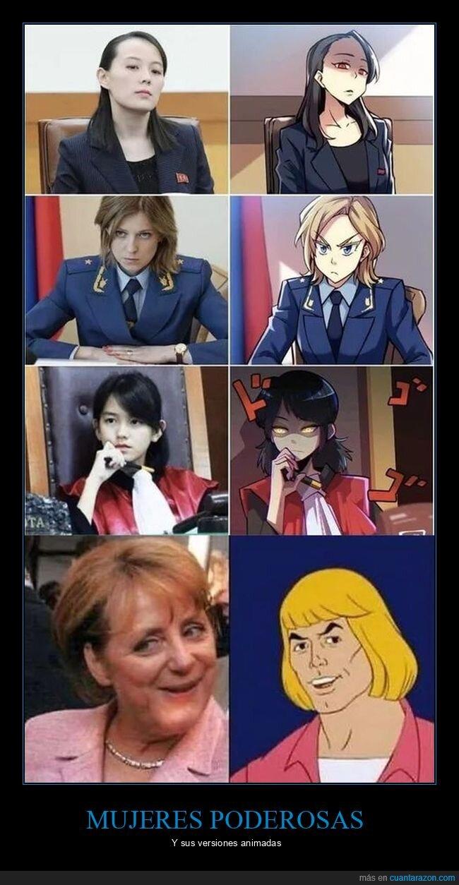 Angela Merkel,Kim Yo-Jong,Leanna Leonardo,Natalia Poklonskaya