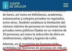 Enlace a Restricciones en Ourense