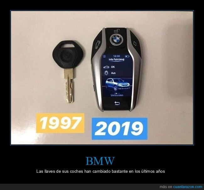 ahora,antes,bmw,llaves
