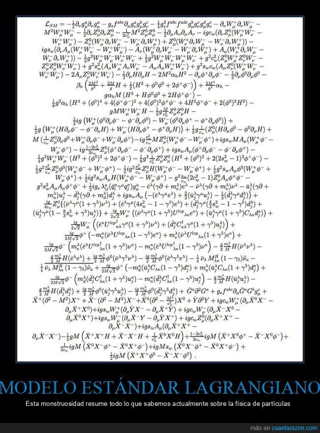 física de partículas,modelo estándar lagrangiano.ecuación
