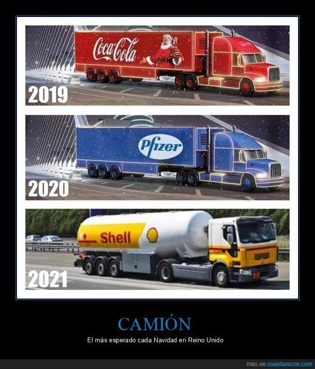 camión,cocacola,pfizer,reino unido,shell