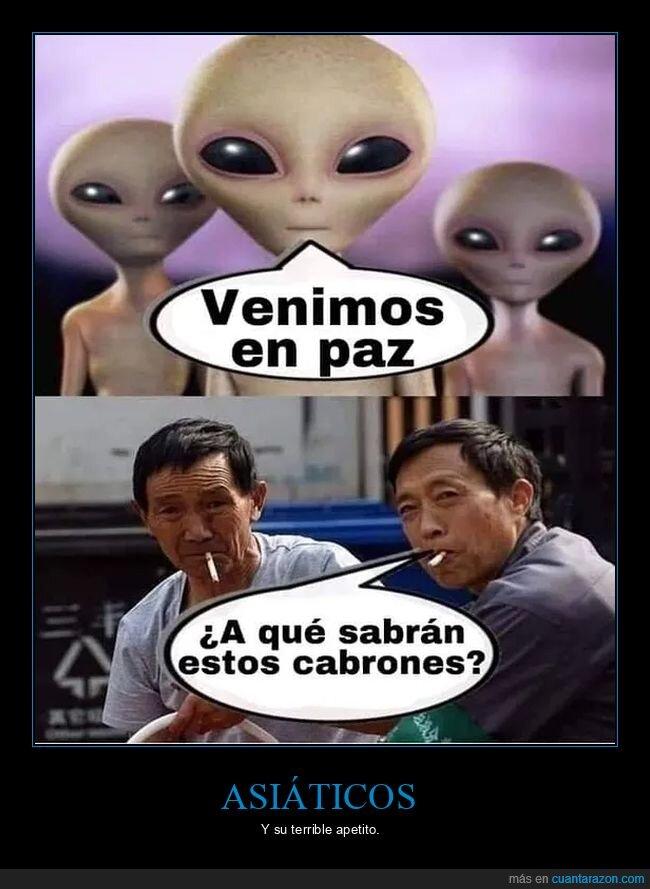 aliens,asiáticos,comida