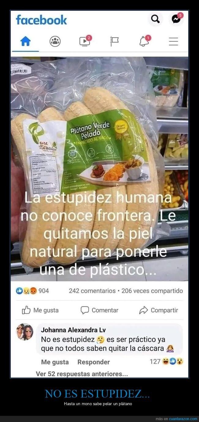 cáscara,estupidez,plástico,plátano