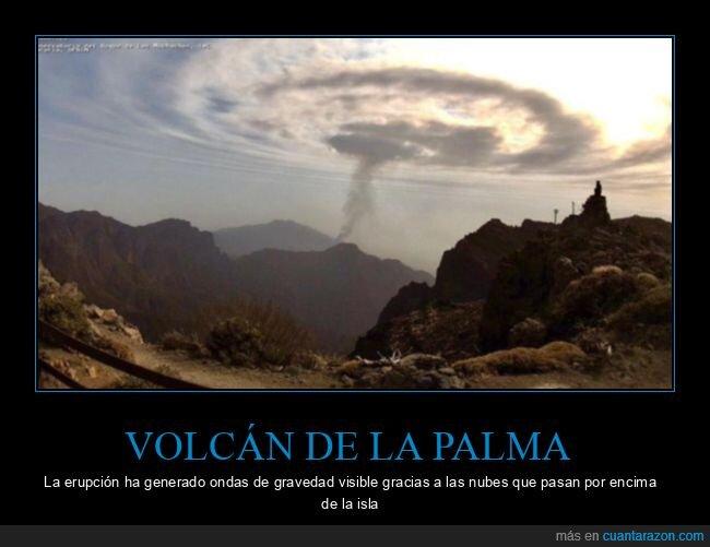 la palma,nubes,ondas de gravedad,volcán