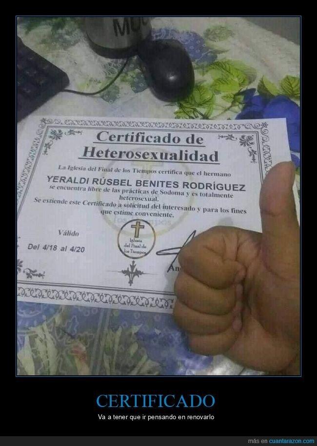 certificado,heterosexualidad,wtf