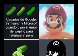 Enlace a El emoji del pepino mucho mejor en Android