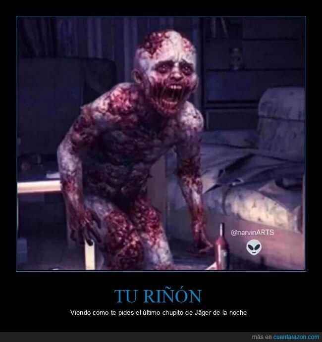 chupito,jägermeister,riñón