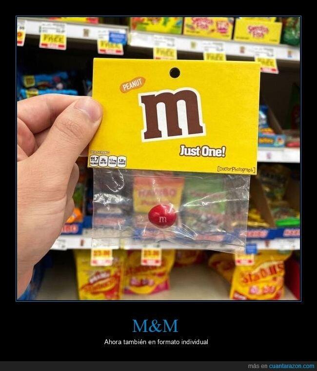 individual,m&m,uno