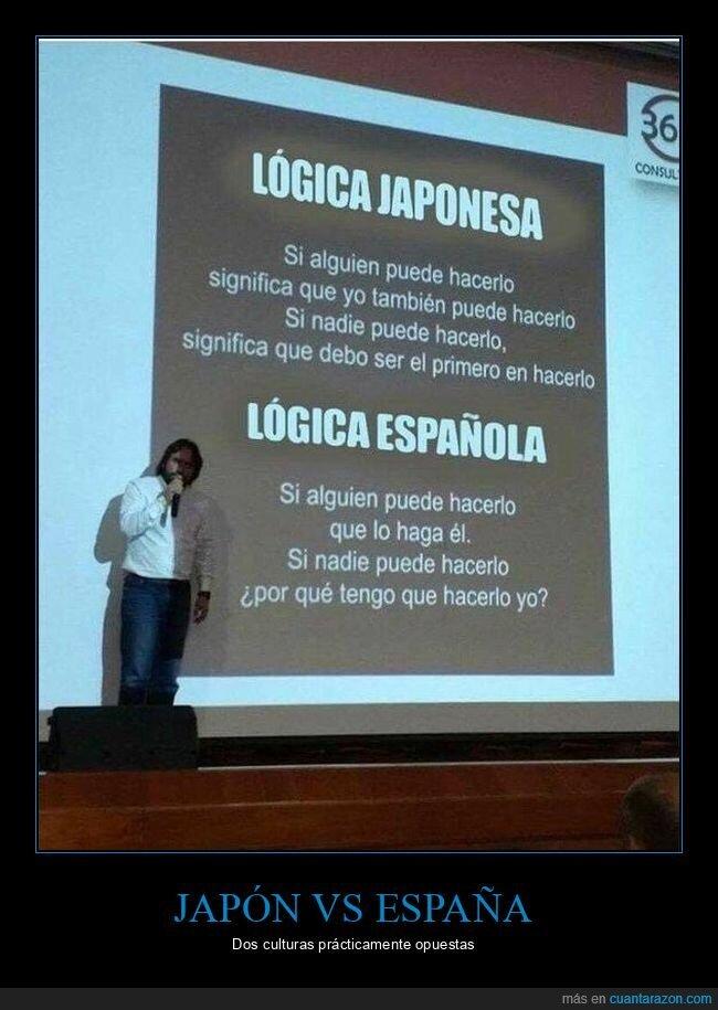 españoles,japoneses,lógica