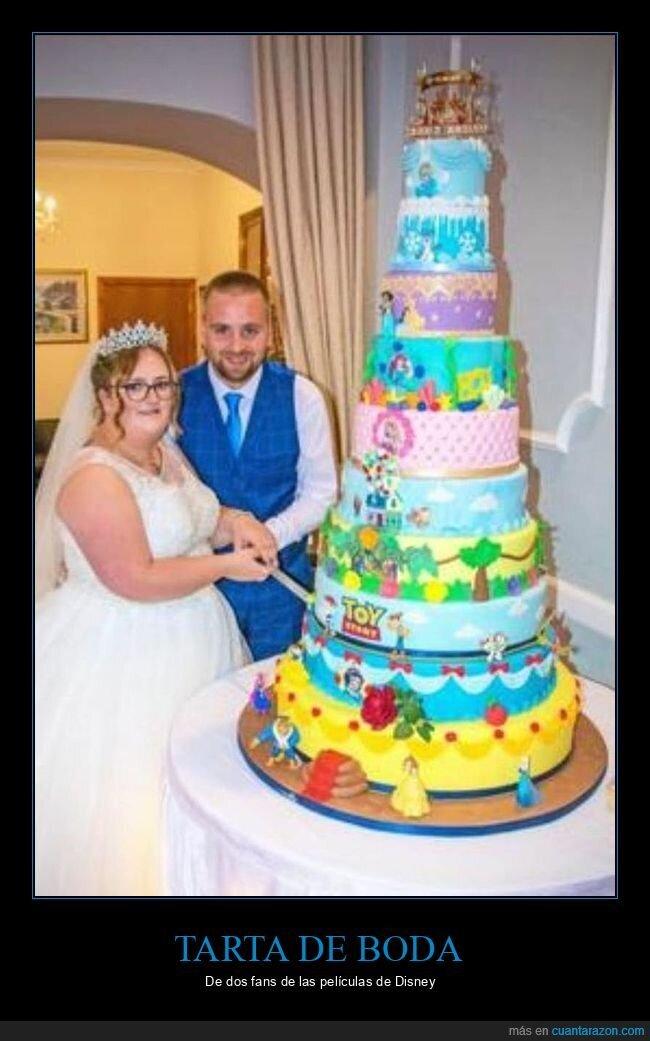 boda,disney,tarta