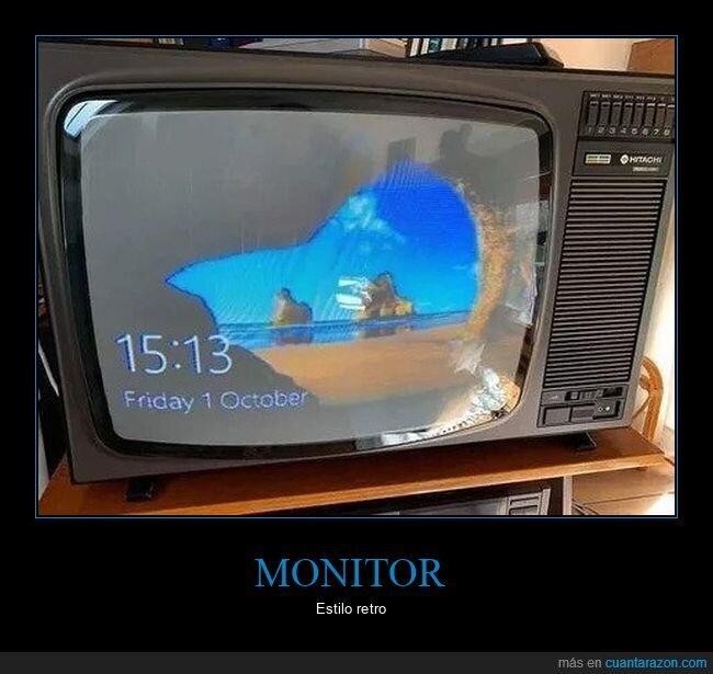 monitor,retro,televisión