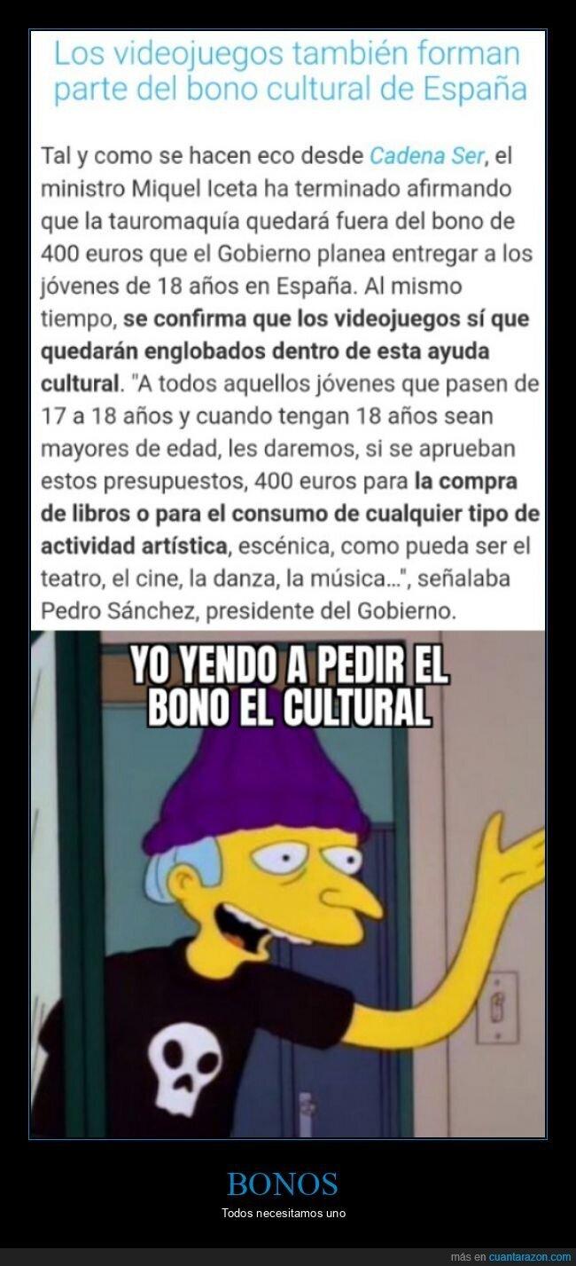 bono cultural,videojuegos