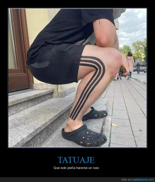 adidas,rusos,tattoo,wtf