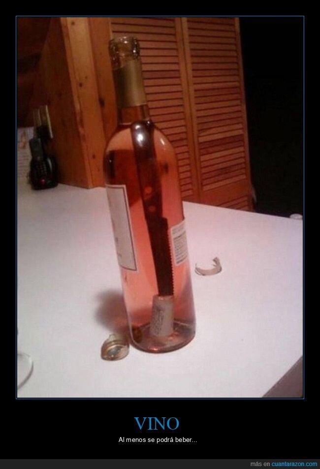 abrir,botella,corcho,cuchillo,fails,vino