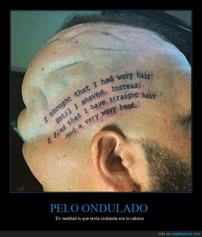 cabeza,ondulado,pelo,tatuaje