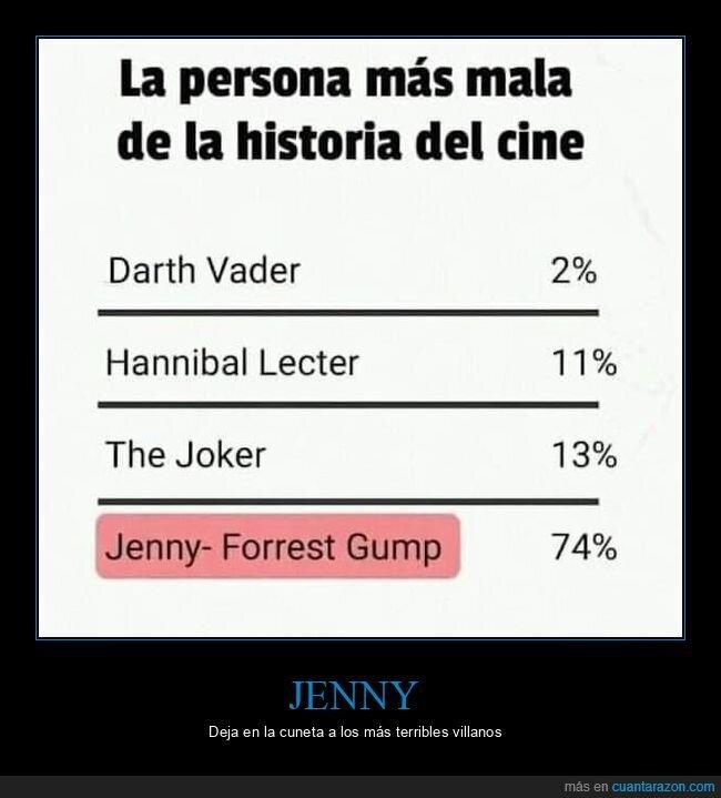 cine,forrest gump,jenny,malos