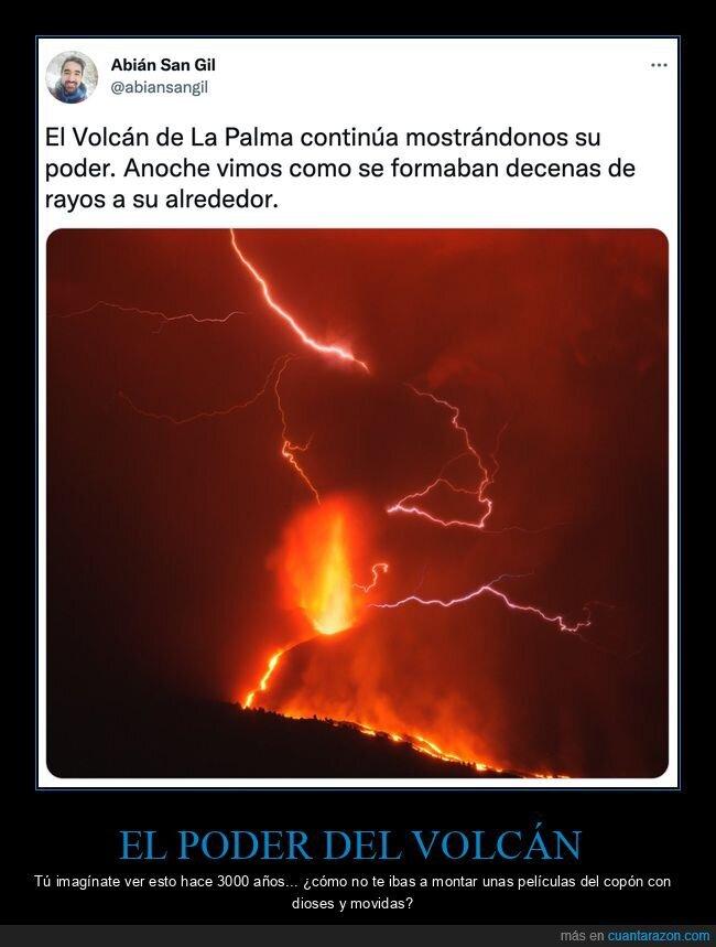 dioses,la palma,rayos,volcán