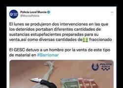 Enlace a La policía local de Murcia saca pecho tras una incautación y desata las burlas en Twitter