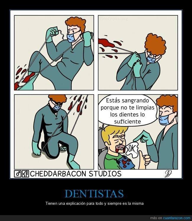 dentista,lavarse los dientes,sangrar