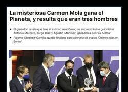 Enlace a Enfados y humor en la red después de conocerse que Carmen Mola son tres hombres