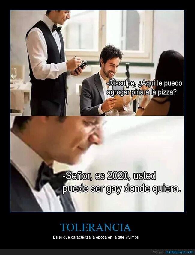 camarero,gay,piña,pizza