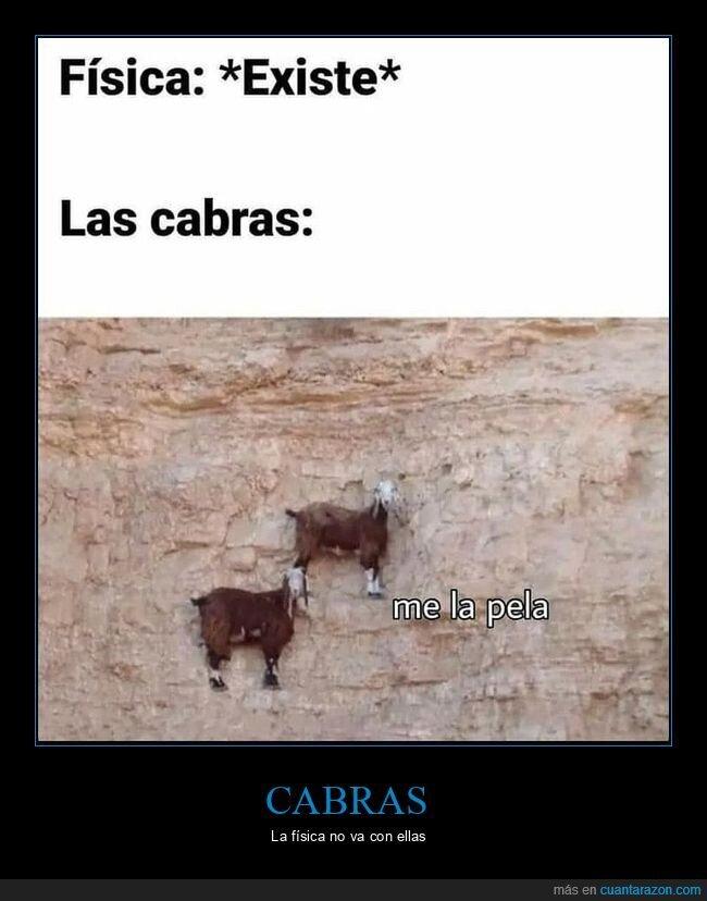 cabras,física