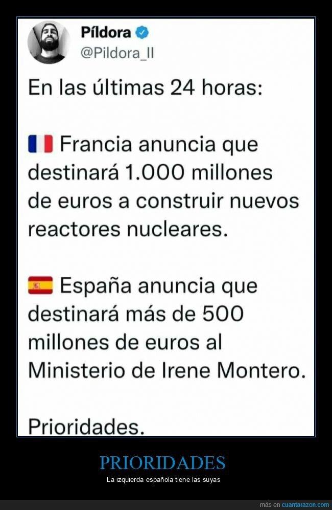 españa,francia,ministerio de igualdad,reactores nucleares
