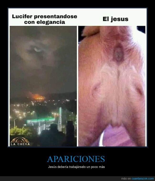 apariciones,jesús,lucifer,perros,wtf