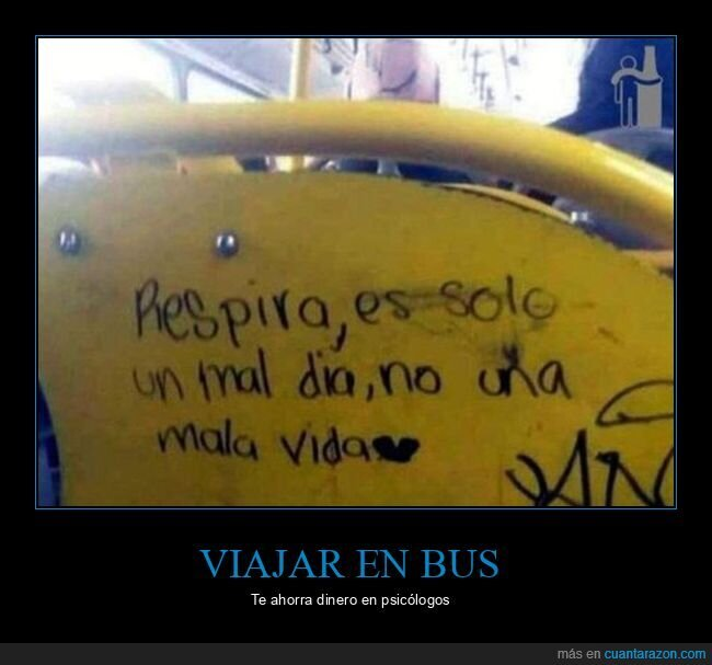 autobús,mal día,pintada