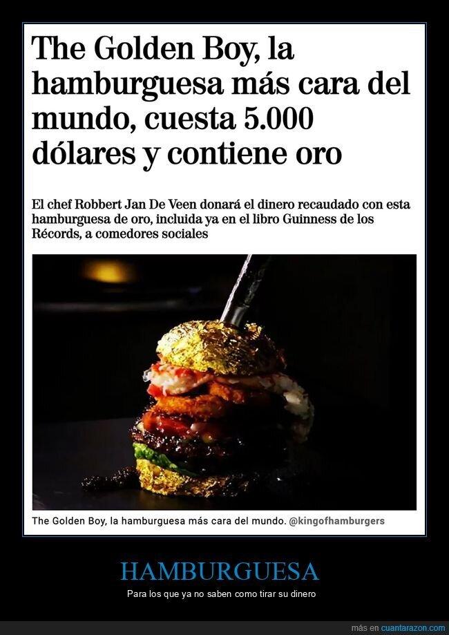 hamburguesa,oro