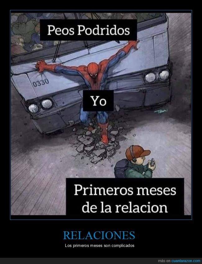 aguantar,pedos,relación,spiderman