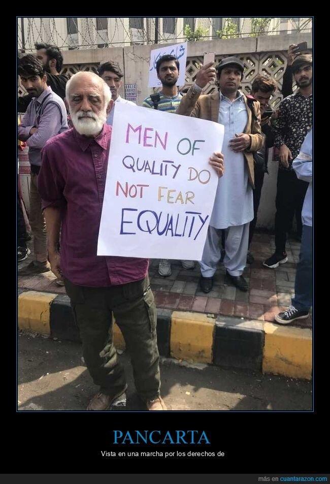 derechos,manifestación,mujeres,pancarta,paquistán