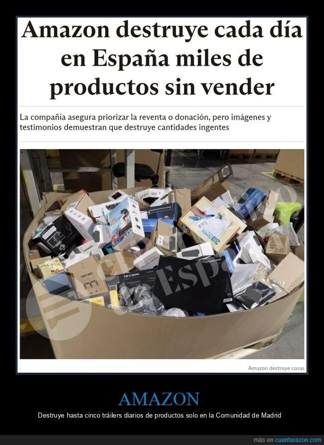 amazon,destruir,productos,sin vender