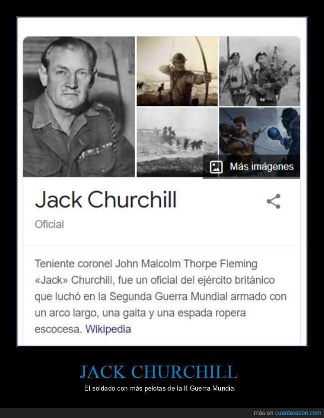 ii guerra mundial,jack churchill,soldado