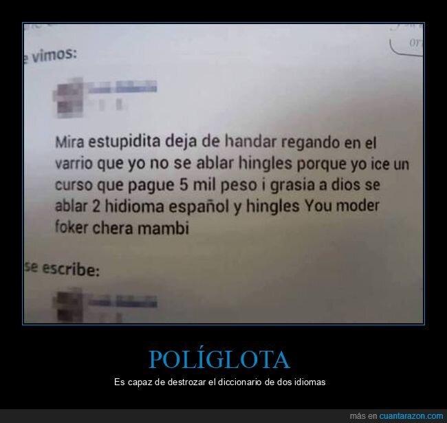 español,inglés,ortografía