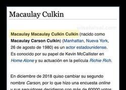 Enlace a El nombre de Macaulay Culkin