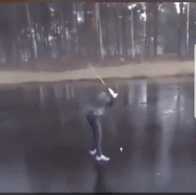 Enlace a Golfear sobre hielo nunca fue una mala idea
