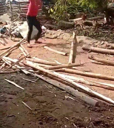 Cuando cortas madera lo más importante es elegir un buen sitio para hacerlo