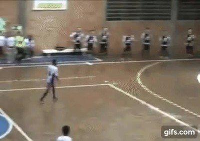 Probablemente el mejor portero de fútbol sala del mundo