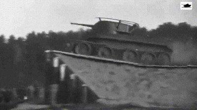 Enlace a ¿Alguna vez habías visto un tanque saltando?