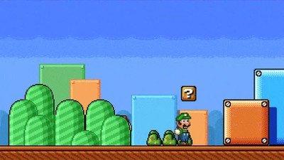 Enlace a Toad y Mario gastándole una broma a Luigi