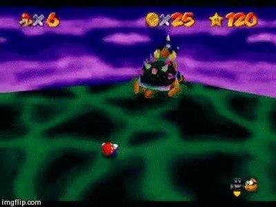 Enlace a No recuerdo Super Mario 64 tan violento