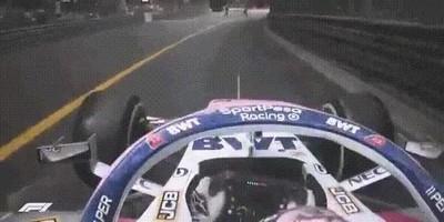 Enlace a Sergio Perez y sus reflejos para evitar una desgracia