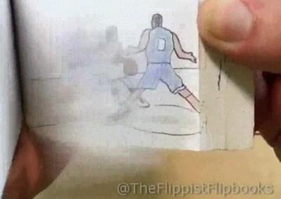 Enlace a Son solo dibujos en papel pero parece que estés viendo un partido de basket